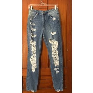 Missguided Distressed Mom Jeans